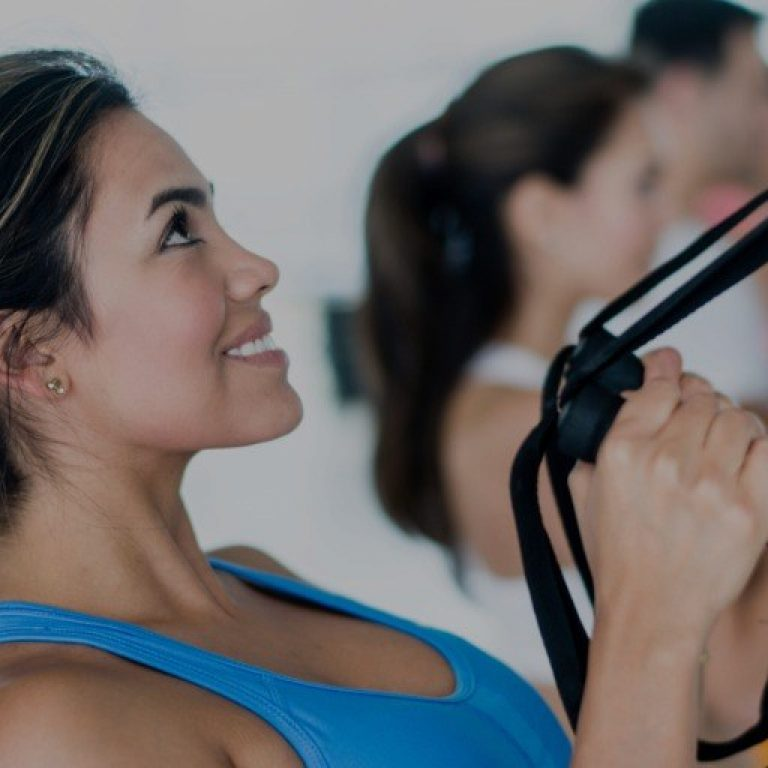 Woman In A Fitness Class Picture Id524724795